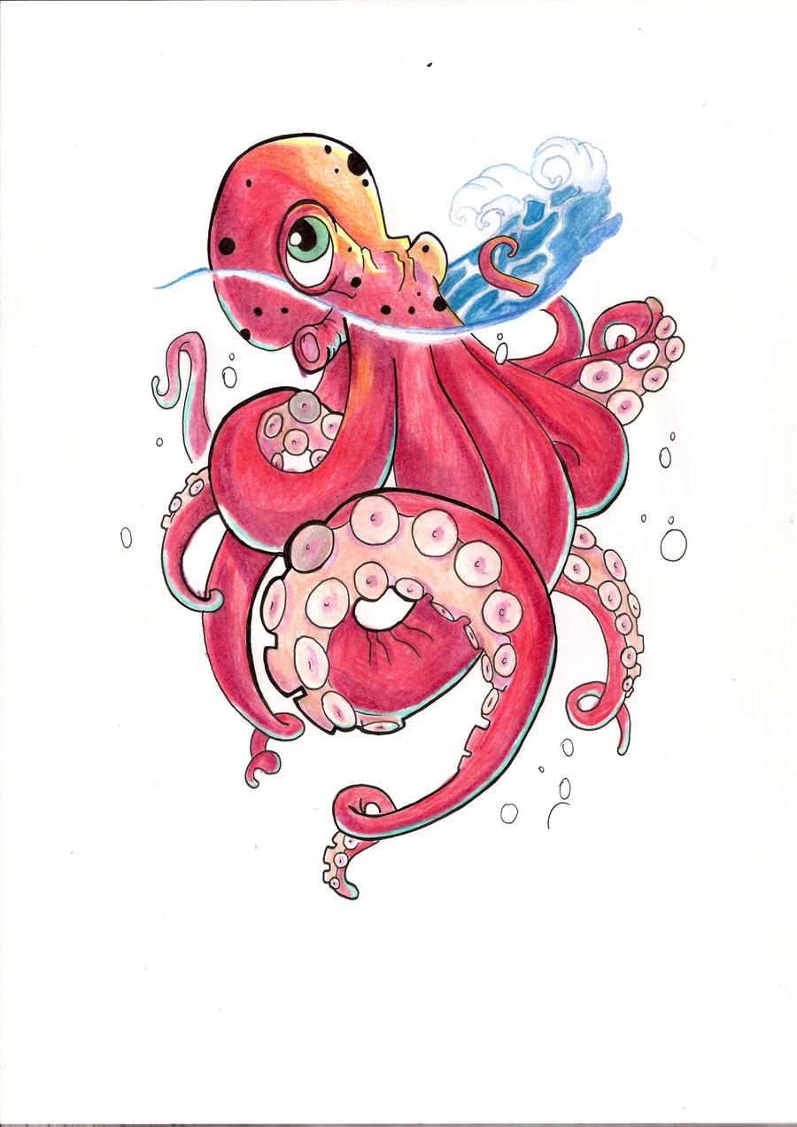 octopus tattoo design by willx03 on deviantart. Black Bedroom Furniture Sets. Home Design Ideas