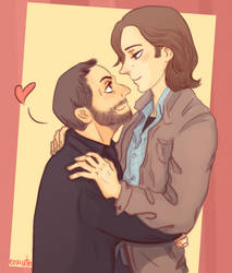 Some nice mooseley hugs [commission] by comuto-sama