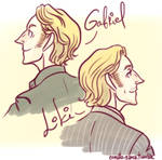 Gabriel, Loki (Supernatural) by comuto-sama