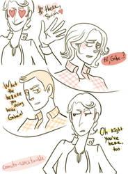 Gabriel's attitude towards Sam and towards Dean by comuto-sama