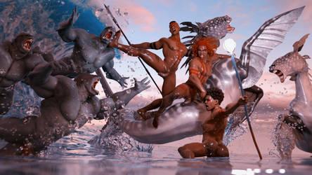 Clash in the Ocean by LoScarlatto