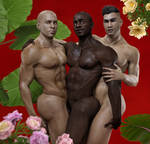 Hunks and Flowers by LoScarlatto
