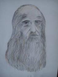 Leonardo Da Vinci... (my attempt at least) by DNAiel333