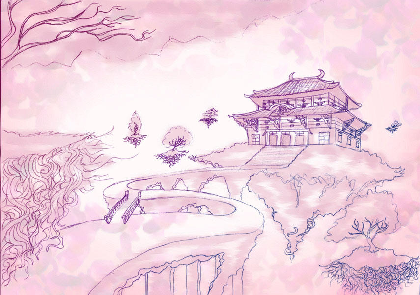 Scenery Drawing By JRock-Prophet On DeviantArt