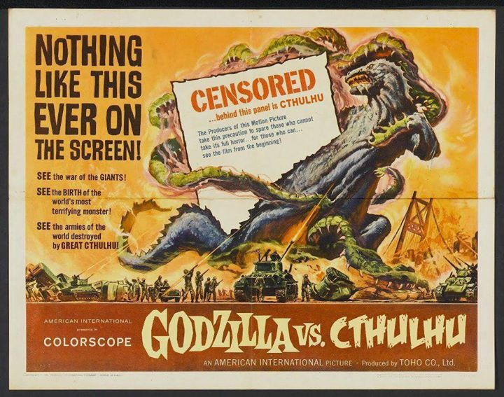 Poster Godzilla versus Cthulhu by ardashir