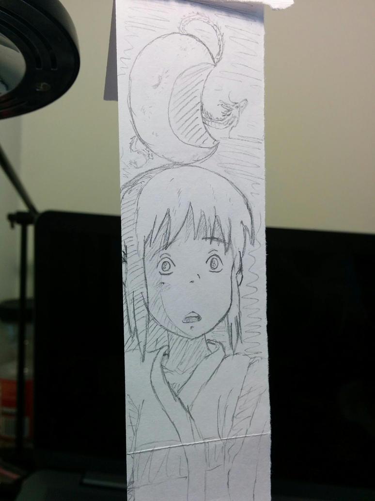Chihiro and Haku Sketch by StoneBengal
