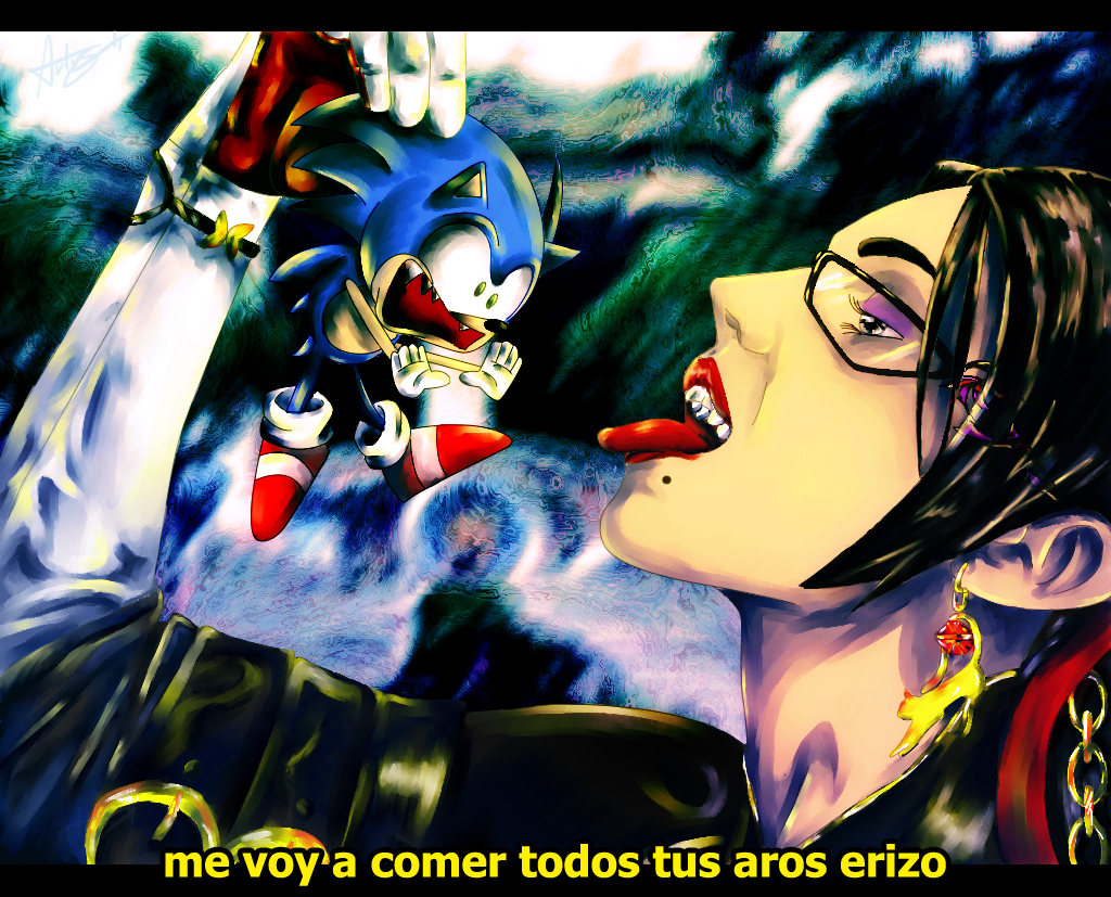 Bayonetta vs Sonic by TamagoStudio