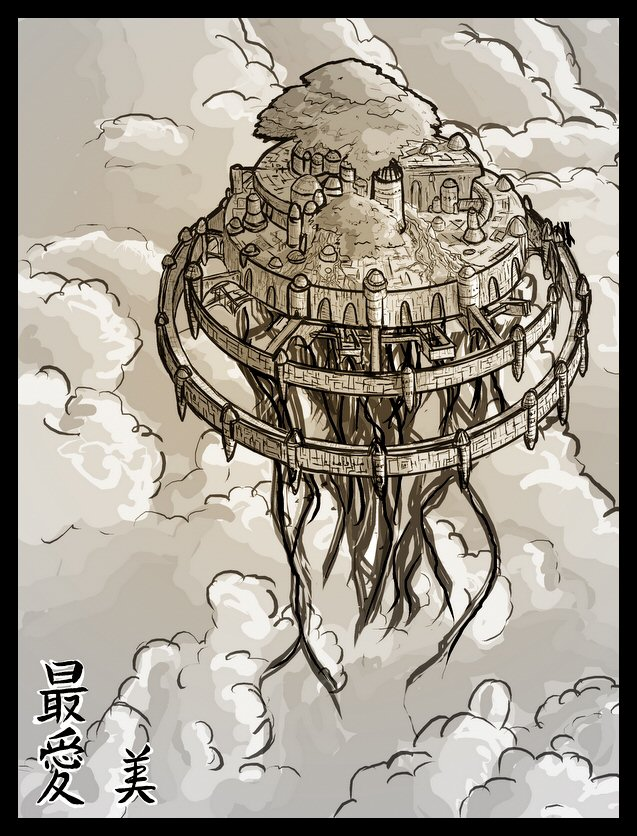 Castle Laputa design by Dimitri86