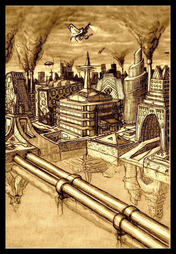 Futuristic city - Redone by Dimitri86