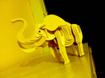 Wooden Elephant by TiaTitan