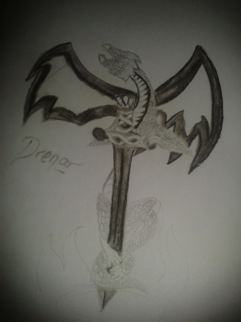 Dragon (request) by Silverkrim