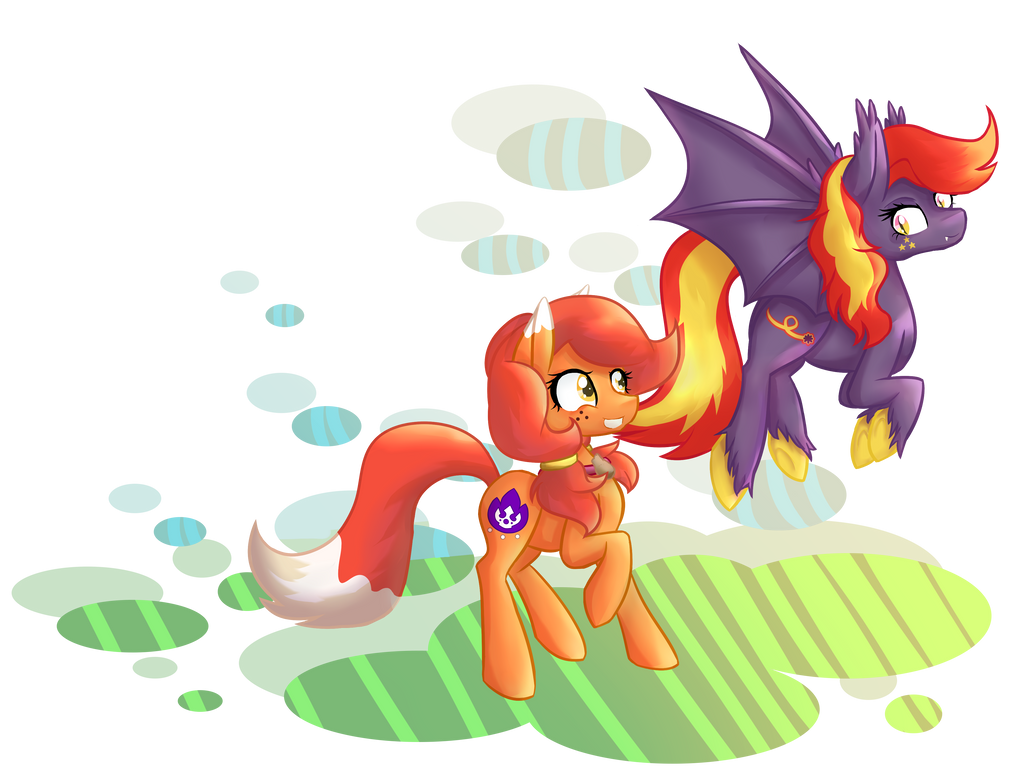 Comm: Freckle Fire + Bright Bolide by CindryTuna