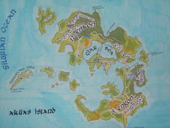 The Akuas Island Map by mpcotk