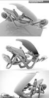 'Ridon' Hoverbike Clay