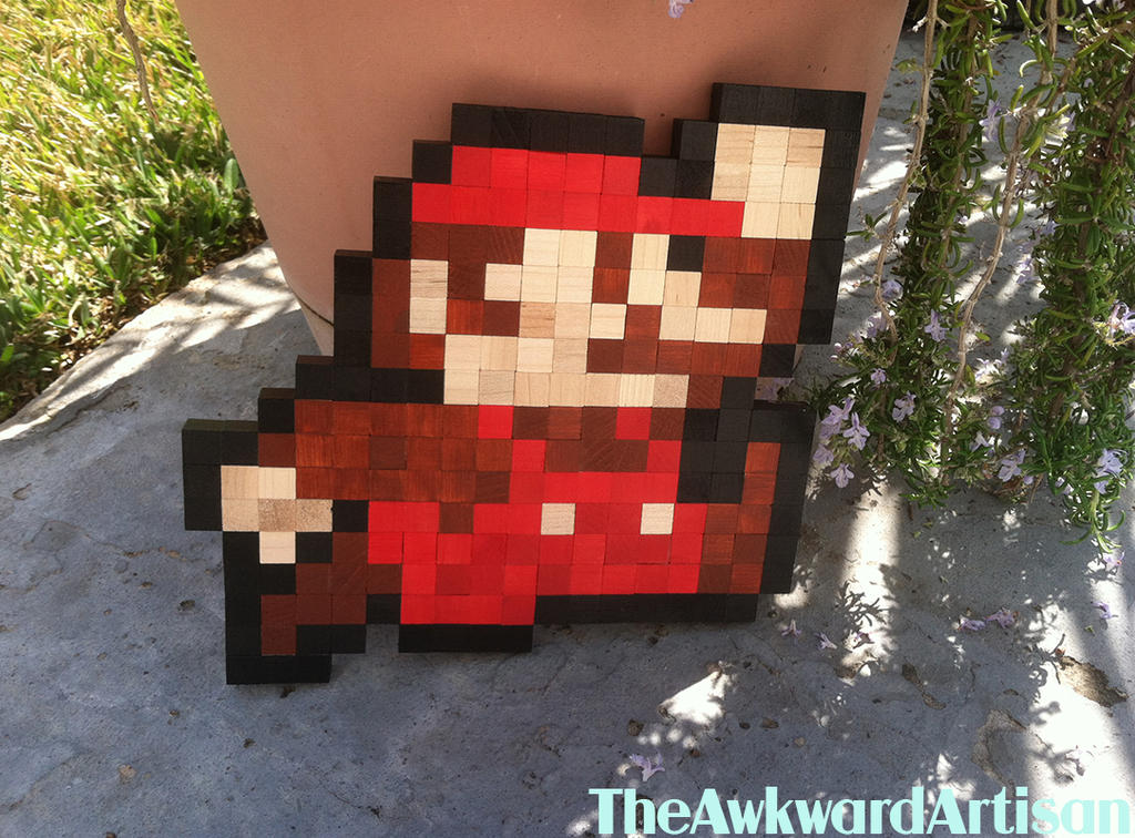 Super Mario (Jump) Wood Block Wall Art by RenMakimurs ... & Super Mario (Jump) Wood Block Wall Art by RenMakimurs on DeviantArt
