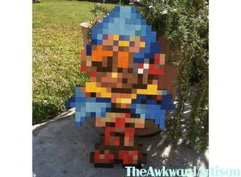Geno Super Mario RPG Wood Block Wall Art by RenMakimurs