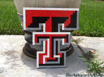 Texas Tech Wood Block Wall Art by RenMakimurs