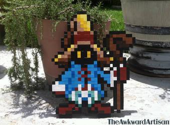Final Fantasy 9 Vivi Wood Block Sprite Wall Art by RenMakimurs