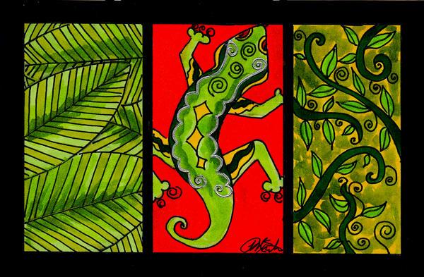 Jungle Lizard by peggymintun
