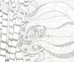 Calamari111 - Line Drawing
