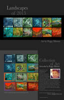 Landscapes of 2013 by peggymintun