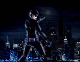 Over Gotham. by jazphantom