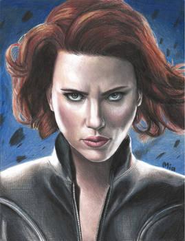 Black Widow (colored pencils)