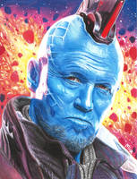 Yondu (colored pencils) by MayTheForceBeWithYou