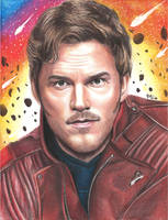 Peter Quill (colored pencils) by MayTheForceBeWithYou