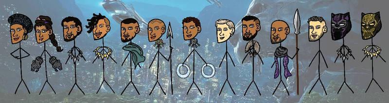 Black Panther stickmans XD