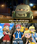 Ash and his XY friends will stop Professor Z