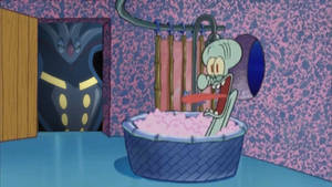 Evil Malamar drops by Squidwards House