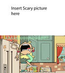 Leni Loud is scared of template