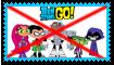 Anti Teen Titans Go Stamp