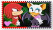 Knuckles X Rouge Fan Stamp by Wildcat1999