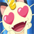 Meowth in love Emoticon