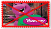Anti Barney the Dinosaur Stamp by Wildcat1999