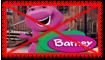 Anti Barney the Dinosaur Stamp