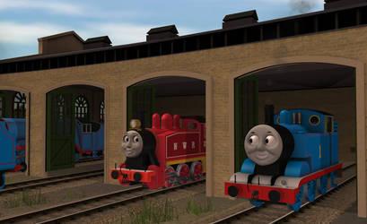 Trainz Thomas and Rosie chatting