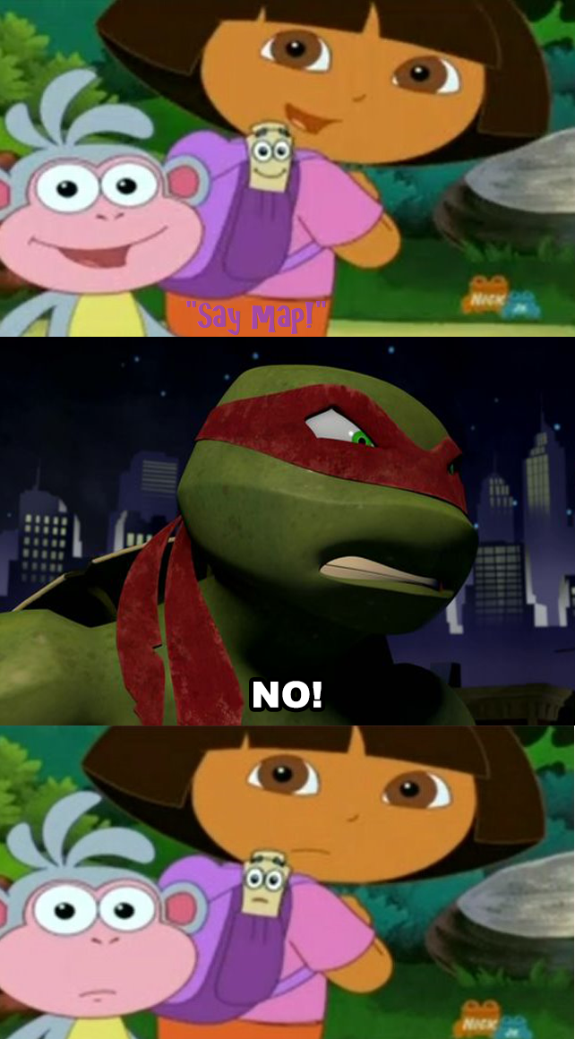 Raphael Says No To Dora Boots And Map By Wildcat1999 On Deviantart