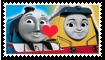 Gordon X Rebecca Fan Stamp by Wildcat1999