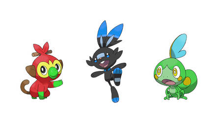 My Shiny Galar Starter speculations by Wildcat1999