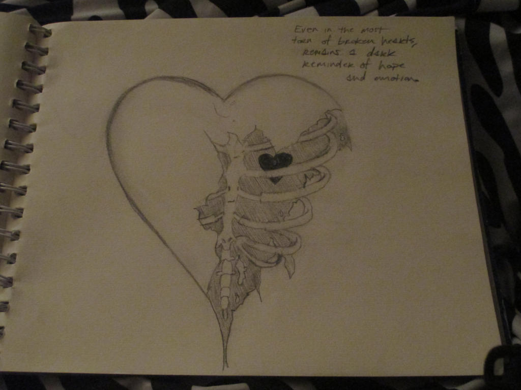 Shattered Heart Drawings Torn Heart Quotes