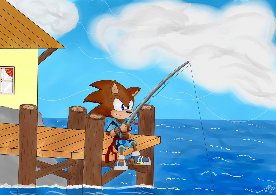 It is a beautiful day for fishing.