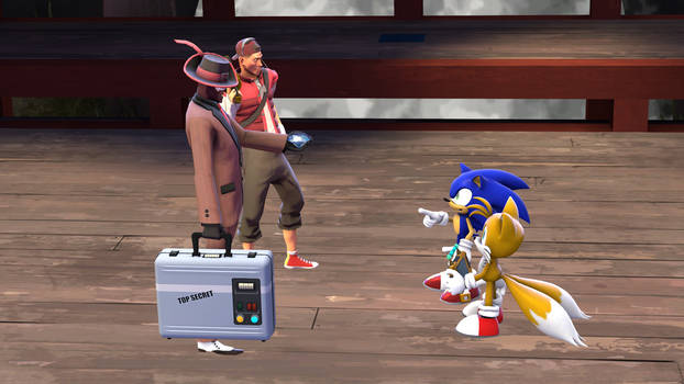 Sonic and Tails meet Spy and Scout