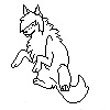 Scenedog Pixel Lineart by SpaggleFag