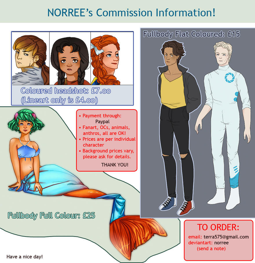 New Commission Info! by norree