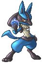 SSBB Lucario Sprite by VegaColors
