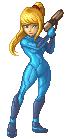 SSBB Zero Suit Samus Sprite by VegaColors