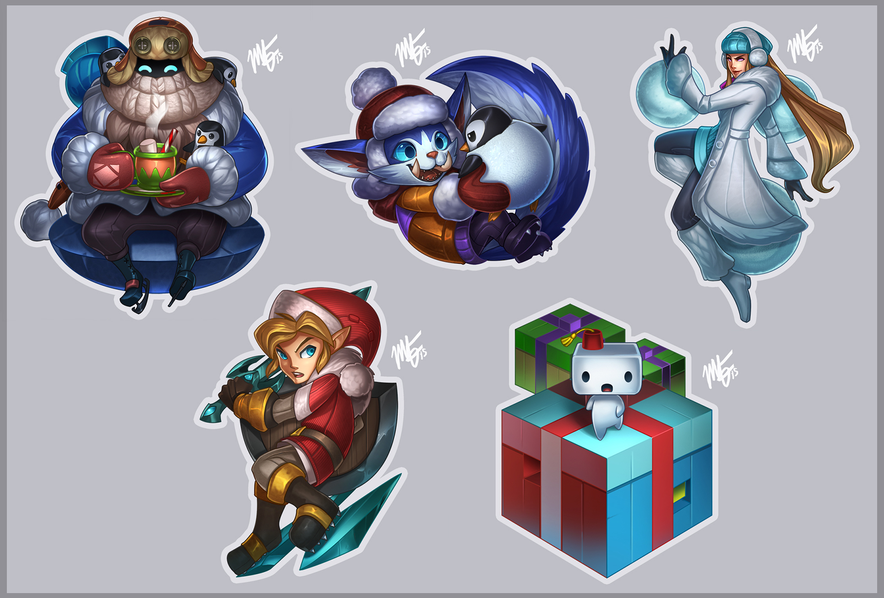 Holiday Doodles '15 by VegaColors